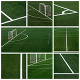 soccer field - collage