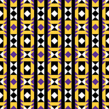 Purple and Yellow Native Pattern