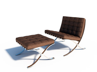 brown leather relax chair scene