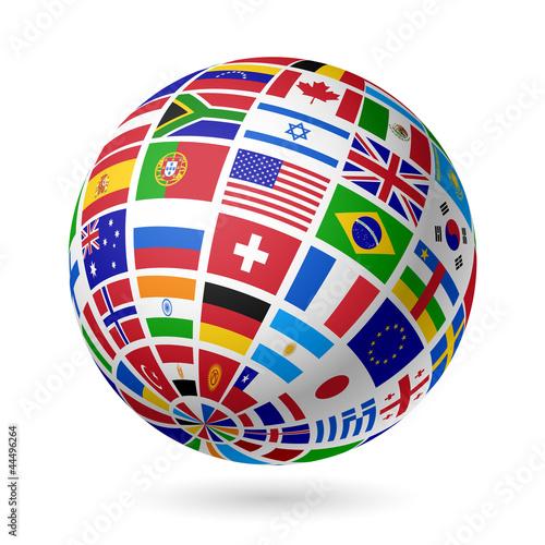 Flags globe - 44496264