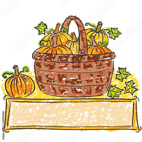 Basket with pumpkins