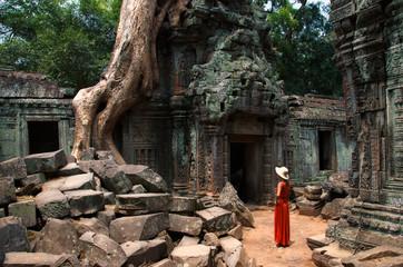 Wurzeln im Ta Prom Tempel von Angkor