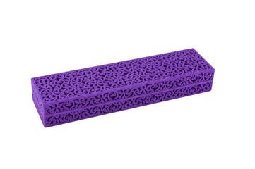 Violet velvet gift box