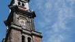 Amsterdam Wester Church close-up timelapse