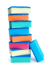 Stack of cleaning sponges