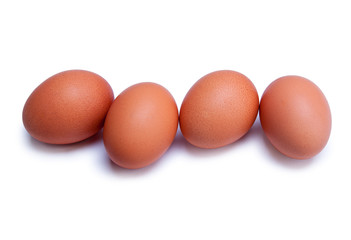 some chicken eggs isolated