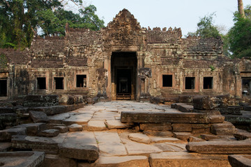 Eingang zum Preah Khan Tempel, Kambodscha