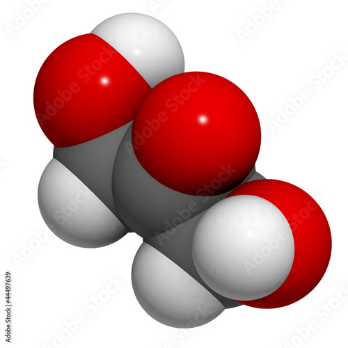 dihydroxyacetone (DHA, sunless tanning) molecule