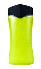 green shower gel with pearls in bottle