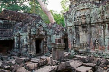 Innenbereich des Preah Khan Tempels, Kambodscha