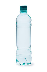 Polycarbonate plastic bottle of mineral water