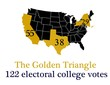 the golden triangle, the three big electoral college states