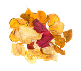 Veggie Chips White Background