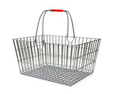 Supermarket basket - isolated on white background