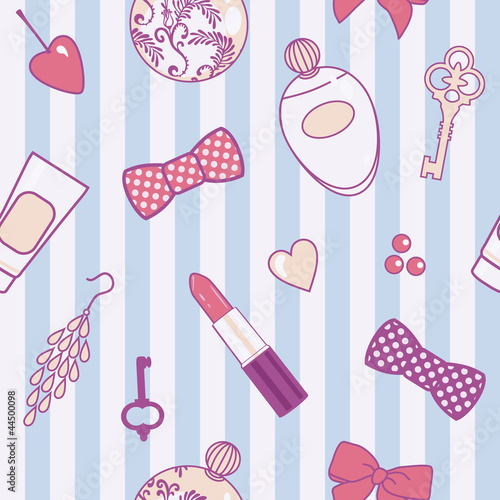 Cotton fabric retro-female-pattern