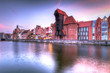 Old town of Gdansk at Motlawa river, Poland