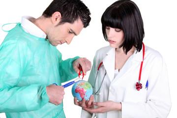 Medical healing globe