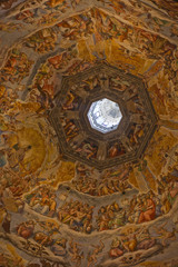 The interior of the cathedral in Florence.