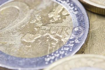 Euros coins.