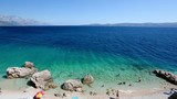 Beautiful Beach and Adriatic Sea with Transparent Blue Water