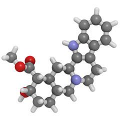 Yohimbine aphrodisiac molecule, chemical structure