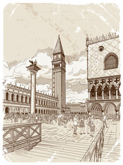 St. Mark's Campanile and The Doge's Palace, Venice