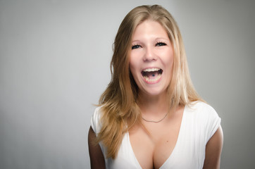 Vivacious laughing young woman