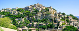 Gordes Medieval Village on rock hill panorama. Luberon, Provence
