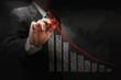 businessman hand touch virtual graph,chart