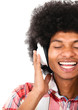 Black man with headphones