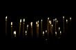 Leinwandbild Motiv Candles in the Dark