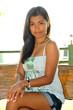 Hübsche junge Frau auf den Philippinen