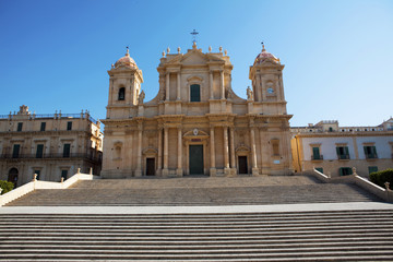 baroque church in noto sicily