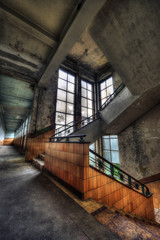 Stairwell in an abandoned sanatorium