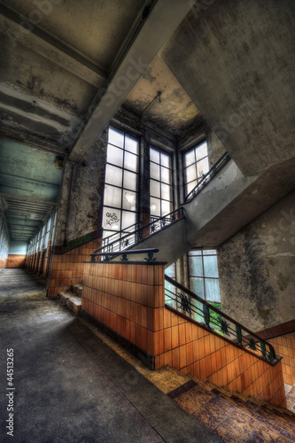 Stairwell in an abandoned sanatorium - 44513265