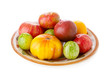 Heirloom tomatoes on a plate