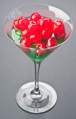 caramelized in Cup cocktail cherries