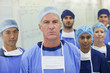 Portrait of serious surgeons and nurses in hospital