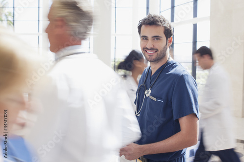 Portrait of smiling nurse in hospital