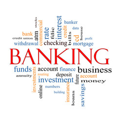 Banking Word Cloud Concept