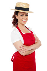Baker woman posing casually with arms crossed