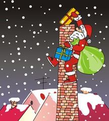Santa Claus - chimney