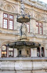 The Vienna Opera house in Vienna, Austria