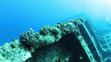 Ship wreck Carnatic underwater. Red Sea. poster