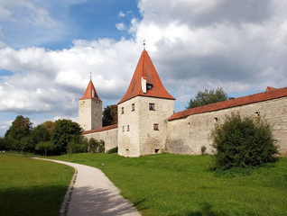 Stadtmauer in Berching