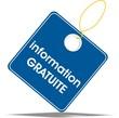étiquette information gratuite