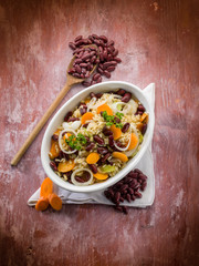 risotto with red beans carrots onions and celery
