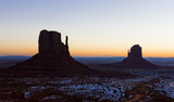 The Mittens during sunrise, Monument Valley National Park, Utah-