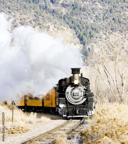 Durango i Silverton Narrow Gauge Railroad, Colorado, USA