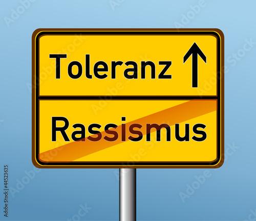 Toleranz – Rassismus
